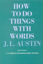 How To Do Things With Word (Book Cover) by J.L. Austin