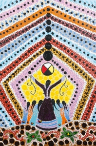 Seven Generations - painting by Leah Dorion