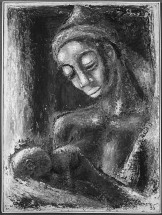 """Mother_and_Child"" (1950), artist unknown."