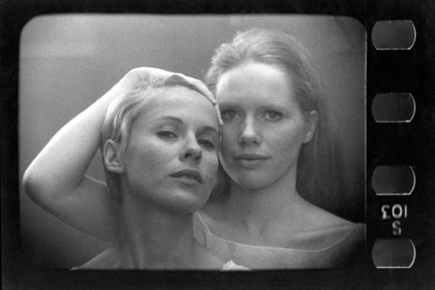 "Still-frame from ""Persona"" (1966) by Ingmar Bergman."