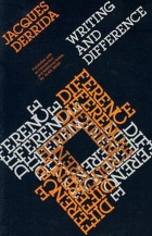 Writing and Dfference (Book Cover), by Jacques Derrida.