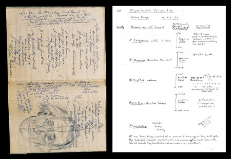 A page each from Artaud and Brecht's notebooks.