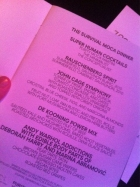MOCA Gala Menu / Programme 2011