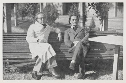 Antonin Artaud et Gaston Ferdiere 1946