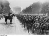 Nazi march on Paris (Ave Foch) June 1940